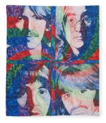 The Beatles Squared Fleece Blanket