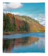 The Beautiful Bald Mountain Pond Fleece Blanket