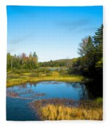 The Beautiful Moose River In Old Forge New York Fleece Blanket
