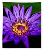 The Beauty Of A Water Liliy Fleece Blanket