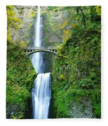 The Beauty Of Multnomah Falls Fleece Blanket