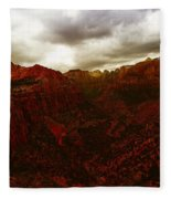 The Beauty Of Zion Natinal Park Fleece Blanket