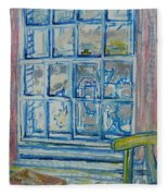 The Bedroom Window Oil & Pastel On Paper Fleece Blanket