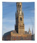 The Belfry Of Bruges Fleece Blanket