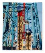 The Bells Of Coney Island Fleece Blanket