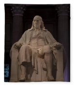 The Benjamin Franklin Statue Fleece Blanket
