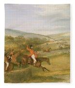 The Berkeley Hunt, Full Cry, 1842 Fleece Blanket