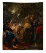 The Betrayal Of Christ Fleece Blanket