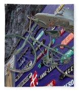 The Bicycle Peddler Fleece Blanket