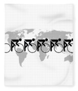The Bicycle Race 3 Fleece Blanket by Brian Carson