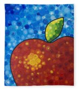 The Big Apple - Red Apple By Sharon Cummings Fleece Blanket