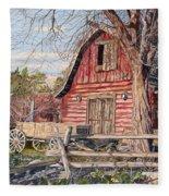 The Big Red Barn Fleece Blanket