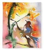 The Bird And The Flower 01 Fleece Blanket