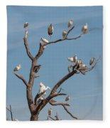 The Bird Tree Fleece Blanket
