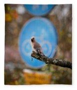 The Bird Without A Bike Fleece Blanket