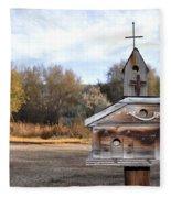 The Birdhouse Kingdom - American Kestrel Fleece Blanket