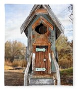 The Birdhouse Kingdom - Belted Kingfisher Fleece Blanket