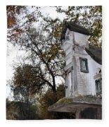 The Birdhouse Kingdom - Mountain Chickadee Fleece Blanket