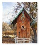 The Birdhouse Kingdom - Spotted Towhee Fleece Blanket