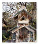 The Birdhouse Kingdom - The Red Crossbill Fleece Blanket