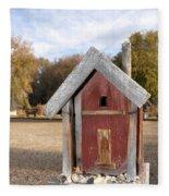 The Birdhouse Kingdom - Western Bluebird Fleece Blanket