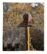 The Birdhouse Kingdom - Cowbird Home Fleece Blanket
