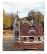 The Birdhouse Kingdom - The Barn Swallow Fleece Blanket