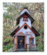 The Birdhouse Kingdom -the Pygmy Nuthatch Fleece Blanket
