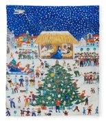The Birth Of Christ Fleece Blanket
