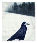 The Black Crow Knows Fleece Blanket