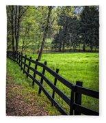The Black Fence Fleece Blanket
