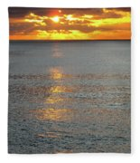 The Black Sea In A Swath Of Gold Fleece Blanket