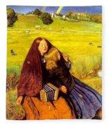 The Blind Girl Fleece Blanket