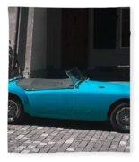 The Blue Car Fleece Blanket