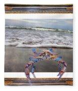 The Blue Crab Fleece Blanket