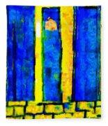 The Blue Doors Of La Rue Des Fauves Fleece Blanket