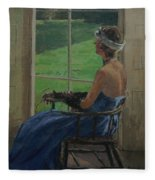The Blue Dress, 2009 Oil On Canvas Fleece Blanket