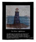 The Blue Lighthouse Fleece Blanket