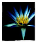 The Blue Lotus Of Egypt Fleece Blanket