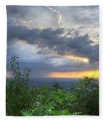 The Blue Ridge Mountains Fleece Blanket