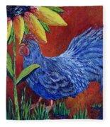 The Blue Rooster Fleece Blanket