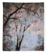The Blue Trees Fleece Blanket
