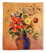 The Blue Vase Fleece Blanket