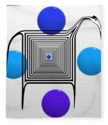 The Blue Zebra Fleece Blanket