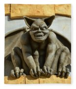 The Boardwalk Of Santa Cruz Gargoyles Fleece Blanket