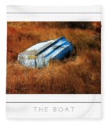 The Boat Poster Fleece Blanket