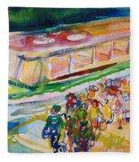 The Boat Trip, 1989 Wc On Paper Fleece Blanket