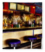 The Bolton Bean Trolley Car Diner In Bolton Landing New York Fleece Blanket