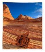 The Bone Yard In The North Coyote Buttes Fleece Blanket
