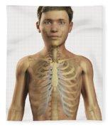 The Bones Within The Body Pre-adolescent Fleece Blanket